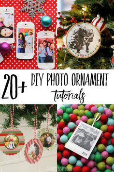 Try one of these diy photo ornament tutorials and make a sentimental Christmas decoration or gift this year! Handmade ornaments are such a fun Christmas craft and all of these add a personal touch with a family photo. #christmas #christmascrafts Diy Photo Ornaments, Ornament Crafts, Handmade Ornaments, Diy Christmas Ornaments, Christmas Tree Decorations, Christmas Signs, Christmas Fun, Christmas Sewing Projects, Ornament Tutorial