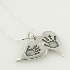This multi wavy heart handprint, fingerprint or footprint pendant will make a truly unique present for someone or a gift for yourself, and comes with FREE UK delivery. http://www.katesjewellery.co.uk/personalised-pendants/multi-wavy-heart-handprint-pendant