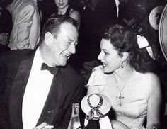 John Wayne and Maureen OHara.