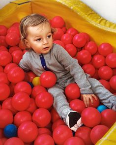 Still obsessed as ever with balls 🔴🔴🔴🔴🔴🔴🔴🔴🔴🔴 ... Any other Mummys immediately think of all the germs that there must be in a ball pit? #masonsideaofheaven #mummysideaofhell