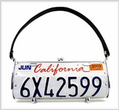 License plate Handbag - May have found a good use for those license plates I have packed away!