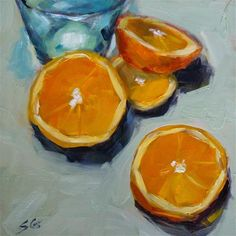 "Daily Paintworks - ""Orange Slices"" - Original Fine Art for Sale - © Susan Galick"
