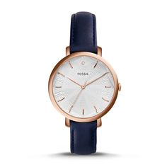 Incandesa Navy Leather Watch