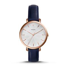 Incandesa Navy Leather Watch
