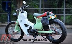 modif c70 mm_0397 ok Moped Bike, Honda Cub, Mini Bike, Cubs, Old School, Biker, Street, Vehicles, Scooters