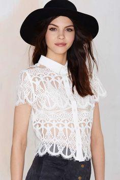 Jadina Lace Blouse - Shirts + Blouses