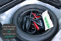 Use car tire for organization