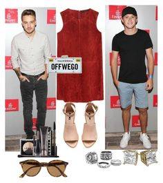 """""""U.S Open w/ Liam and Niall"""" by marbear263 ❤ liked on Polyvore featuring Zara, H&M, Kate Spade, LORAC, Ray-Ban, women's clothing, women's fashion, women, female and woman"""