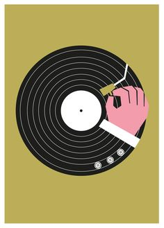 Music Business Gold - Little Red Dots - Ltd edition prints by graphic artist and illustrator Dale Edwin Murray Music Illustration, Gold Foil Print, Gold Ink, Cool Posters, Vinyl Art, Deco, Graphic Prints, Framed Art Prints, Dibujo