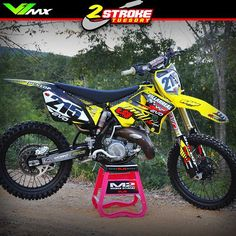 """244 Likes, 6 Comments - Motocross & enduro webshop (@v1mx) on Instagram: """"The two stroke of this week is the Suzuki RM144 2007 build by: Joshua Villareal.  #twostroketuesday…"""""""