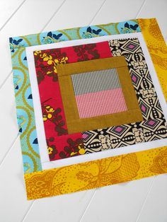 love this quilt block -- by fussy cut
