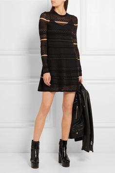 McQ Alexander McQueen   Knitted mini dress   NET-A-PORTER.COM