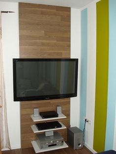 TV & HiFi Wand Bauanleitung zum selber bauen