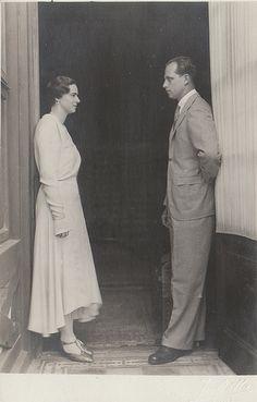 Princess Ileana of Romania with her fiance Arch Duke Anton of Austria