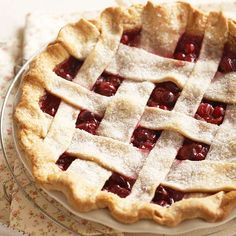 This Cranberry-Cherry Pie is a classic! More holiday pie recipes: http://www.bhg.com/christmas/recipes/holiday-pies/