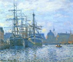 The Havre, the trade bassin - Claude Monet,1874