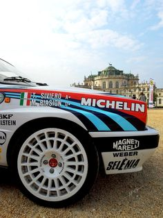 Lancia Delta HF Integrale Gr.A...( Palazzina di Caccia di Stupinigi..🇮🇹 ) Hatchback Cars, Lancia Delta, Horse Carriage, Martinis, Modified Cars, Rally Car, Supercars, Monster Trucks, Group