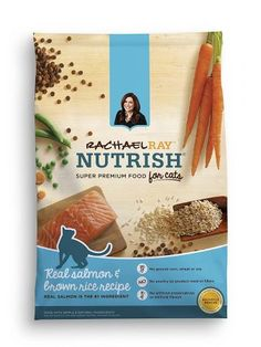 Rachael Ray Nutrish Natural Dry Cat Food, Salmon & Brown Rice Recipe, 6 lbs - I Heart My Cats Rachael Ray Cat Food, Salmon Cat, Chicken And Brown Rice, Brown Rice Recipes, Dry Cat Food, Pet Food, Food Food, Types Of Food