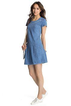 Esprit - Slub-Jersey-Kleid aus 100% Baumwolle im Online Shop kaufen