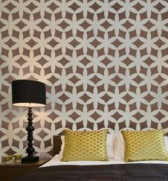 Circle pattern - peel and stick removable wallpaper – thediyhomedecor.com