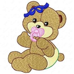 Embroidery Applique, Machine Embroidery, Embroidery Designs, Janome, Winnie The Pooh, Disney Characters, Fictional Characters, Santa, Teddy Bear