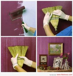 Creative Painting Idea - wish we had smooth walls for this one!