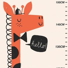 Image of GIRAFFE height chart £16.00 from www.zandersandsons.co.uk