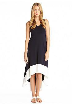Karen Kane Color Blocked High-Low Dress
