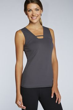 The cut out detail in the Alberta Top offers a fun spin on the typical tank - Fabletics