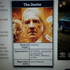 """""""#31daysofwholloween Day 21: Favorite Non-Cannon Doctor - Unbound Doctor 2 played by David Warner #DoctorWho"""""""