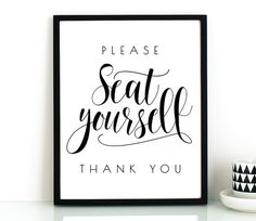 Funny bathroom wall art PRINTABLEPlease seat by TheCrownPrints