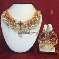 Guttapusalu Necklace Huge Chandbalis | Jewellery Designs