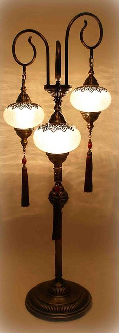 Model the center chandelier after theses -- Ottoman Floor Lamp Victorian Lamps, Antique Lamps, Vintage Lamps, Vintage Lighting, Light In, Lamp Light, Chandeliers, Chandelier Lighting, Dim Lighting
