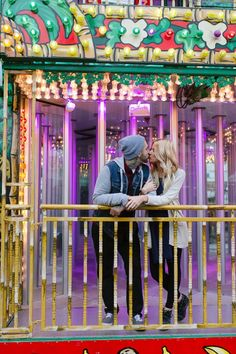 Adorably Fun Carnival Engagement | Photo by Darling Photography via http://junebugweddings.com/wedding-blog/adorably-fun-engagement-fryeburg-fair/