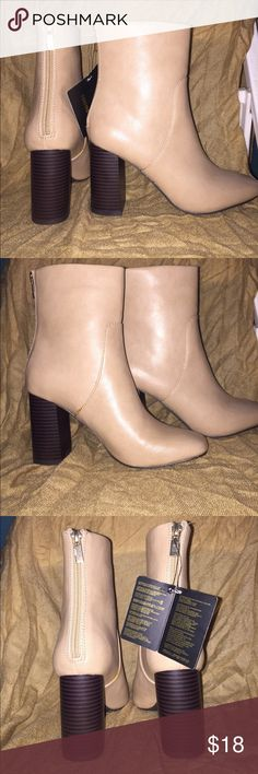 Forever 21 Nude Booties/ Heeled Boots Bought, a few weeks ago. Never worn. A bit tight because i have wide feet, but nonetheless looks amazing. Shoes Ankle Boots & Booties