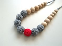 nursing necklace teething necklace mommy and baby by RedOgeeSheep