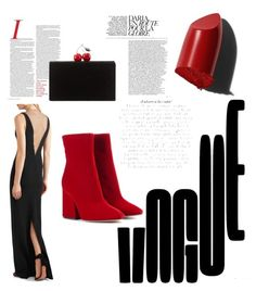 """""""Red elegance"""" by audreypoe on Polyvore featuring Maison Margiela, Bobbi Brown Cosmetics, STELLA McCARTNEY and Edie Parker"""