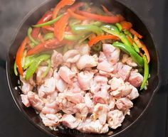 cooking Thai panang curry with chicken