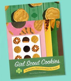 Two of my favorite things rolled into one- stationery and Girl Scout Cookies.  I call dibs on the Samoas.  You can have the Trefoils, but the Samoas are mine.  All of them.