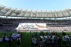 Şampiyon Beşiktaş tribünlerinden özel kareler