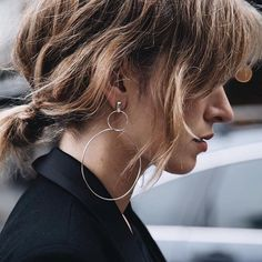 The Double Drop Hoops via @chroniclesofher_