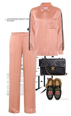 """""""Untitled #1461"""" by marjanne-mestilainen ❤ liked on Polyvore featuring Asceno, Gucci and Chanel"""