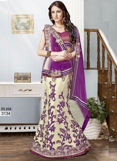 Latest Off White Lengha Choli-Online Shopping-