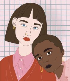 THE GIRLS series — Izabela Kacprzak - illustration, graphic design, girl power Girl Couple, Girls Series, Ipad Art, Two Girls, Smash Book, Art Images, Girl Power, Art History, Disney Characters