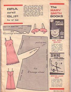 Barbie slip and bra pattern!.