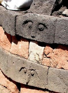 Carved faces from a wall of a Nuraghe, Nuraghian Period, Sardinia. Ancient Ruins, Ancient Art, Arrow Of Time, Best Poems, Face Images, Sacred Feminine, Goddess Art, Prehistory, Stone Carving
