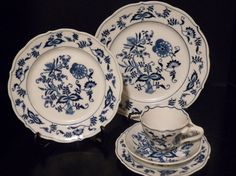 I'm Open! More to come!  Blue Danube China 5 Piece Place Setting by PaperMoonVintageEtc, $65.99