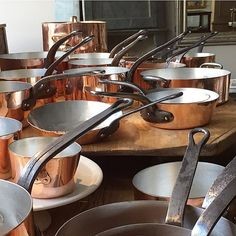 Yah French copper is in and freshly re-tinned! #redchaironwarren #French #frenchcopperpots #forthecook #antiquecopper