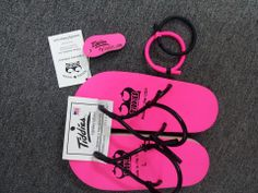 Tiddies Sandals with matching bracelets and key chain! www.mytiddies.com