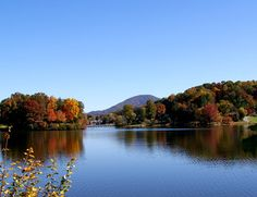 Beautiful Leaves at Lake Junaluska in Maggie Valley, North Carolina